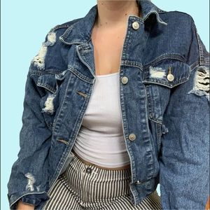 Dollskill distressed denim jacket